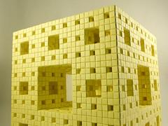 Level 3 Menger Sponge at 90% tall (Nick Rougeux) Tags: origami postit cube mengersponge folding