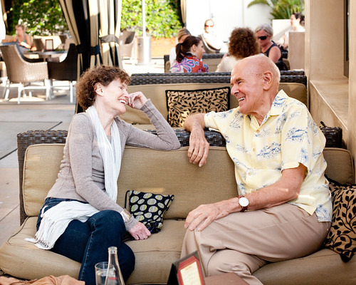 Judy Blume and Richard Peck at SCBWI LA 2011 (photo by Rita Crayon Huang)