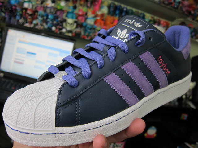 toybot studios custom Adidas Superstar