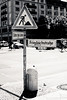at half-mast (Tafelzwerk) Tags: blackandwhite white black berlin sign 35mm nikon unterdenlinden streetphotography baustelle schild study nikkor schwarz halfmast studie halbmast buildinglot weis milieu strase friedrichstrase nikkor35mm schwarzundweis strasenfotografie d7000 nikond7000 tafelzwerk tafelzwerkde milieustudie