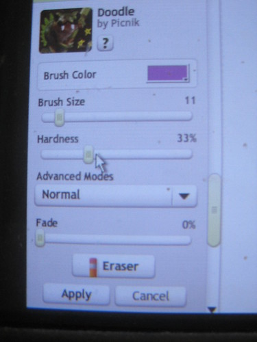 Select a brush size (the smaller the number, the thinner the brush)