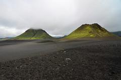 Green mountains in the dark desert (supersky77) Tags: island iceland laugavegur islanda emstrur hattfell