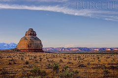 Church Rock (Jim Purcell) Tags: summer usa mountains art horizontal digital photoshop landscape photography evening utah ut pentax zoom fineart kitlens multipleexposure photograph canyonlands handheld summertime dslr monticello hdr highdynamicrange goldenhour topaz lightroom lasal artistry hwy191 horizontals sanjuancounty photomatix photomechanic pentaxistdl tonemapping smcpentaxda1855mmf3556al tucsonphotographer