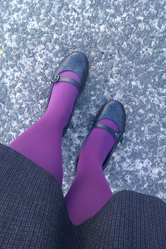 31 photos in 31 days - Love working in a job where I can were awesome coloured tights