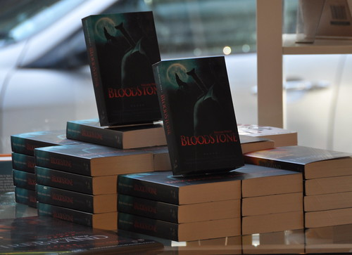 Bloodstone launch at the Edinburgh Bookshop
