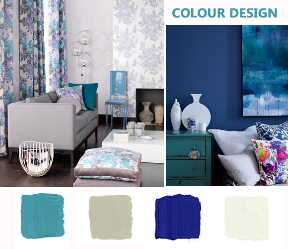 blue color scheme for home decoration 01