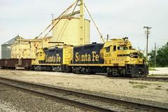 Santa Fe Siding (Andy961) Tags: railroad santafe train industrial texas venus diesel tx engine railway locomotive siding emd atsf gp7