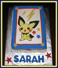 Sarahs 7th Birthday...Pichu! (TwoLittleLadiesCakery) Tags: pichu pikachu pokemon