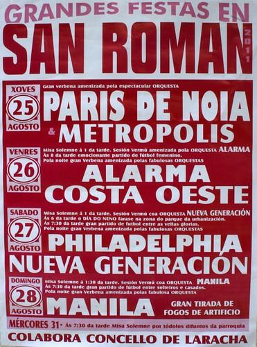 A Laracha 2011 - Festas en San Román - cartel