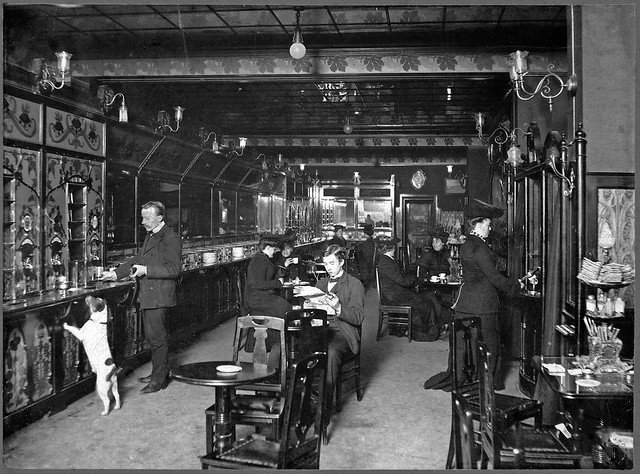 Automated restaurant in Stockholm 1905