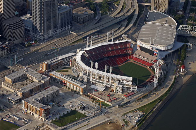 The Banks, Great American Ballpark & US Bank Arena
