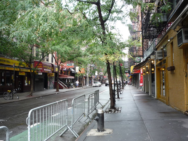 MacDougal Street, Greenwich Village, before the storm