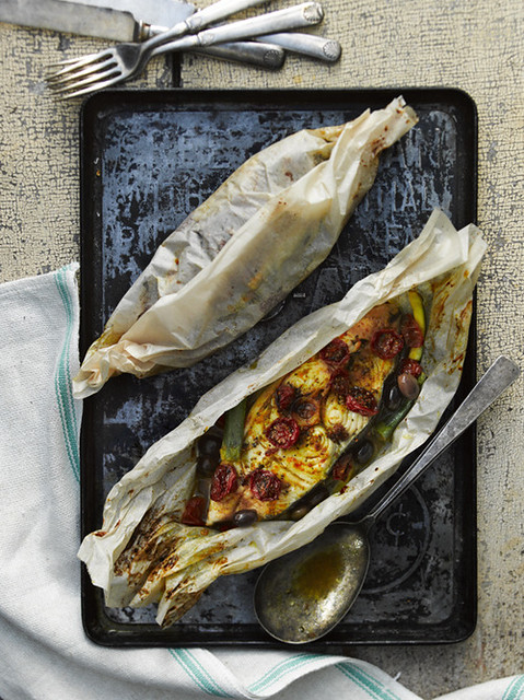 5 John Cullen-Halibut Fish Baked in Paper Foodandwine
