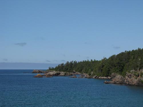 "The ""orange rock"" at Mica Bay"