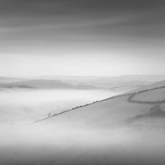 Morning Mist, Exmoor (Weeman76) Tags: uk winter bw mist southwest monochrome landscape mono nikon devon exmoor d90 afsdxzoomnikkor1870mmf3545gifed niksoft silverefexpro2