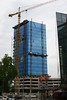 Linz (austrianpsycho) Tags: tower linz crane baustelle turm kran hochhaus xxxlutz blumautower