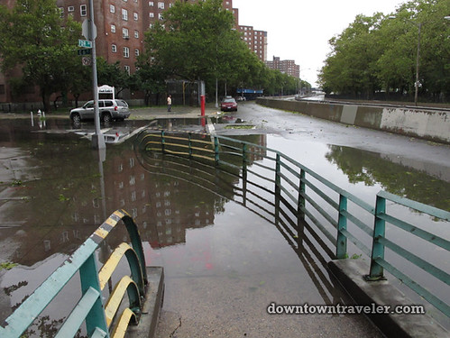 Aftermath of Hurricane Irene in NYC_Flooding on FDR Drive