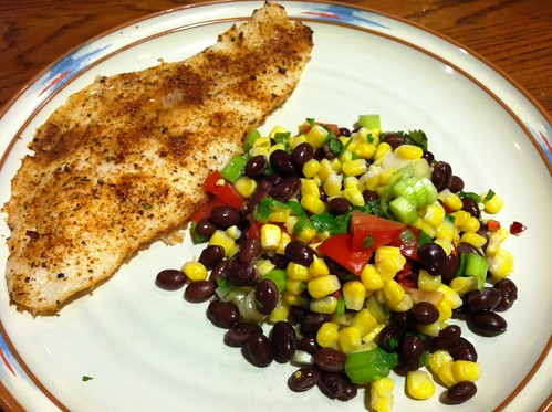 Lighter Black Bean & Corn Salad
