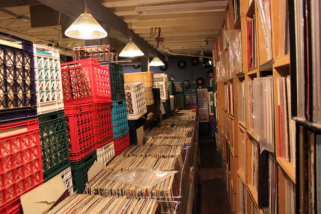A record shop in North Beach