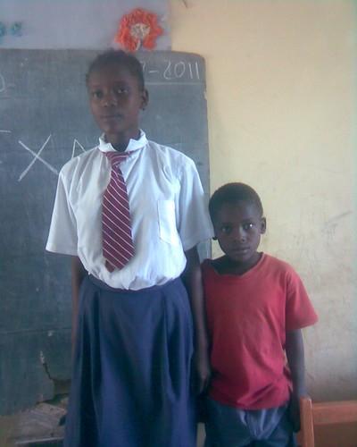 Mwaka and Kanoti attending Hope Orphan School