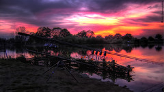 Fishing Sunset HDR (Fanougraphie) Tags: sunset lake france fishing pond sony rod hdr  canne tang pche     flickraward