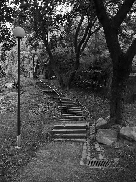 En vindlande trappa