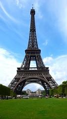 Tour Eiffel (ccr_358) Tags: blue sky mars white paris france green tower grass clouds iron torre tour eiffeltower champs eiffel structure toureiffel torreeiffel trocadero francia champsdemars parigi lavillelumiere ccr358