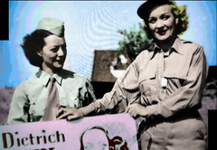 Movie Star Marlene Dietrich Loved to Entertain the Troops (Walker Dukes) Tags: california pink blue red orange woman white black color green film beautiful beauty television yellow photoshop canon hair army gold screenshot glamour eyes women young hollywood actress movies filmstill filmstills actor uniforms diva tcm moviestills topaz moviestill turnerclassicmovies moviestars oldmovies picturesofthetelevision televisionshot topazadjust canons95