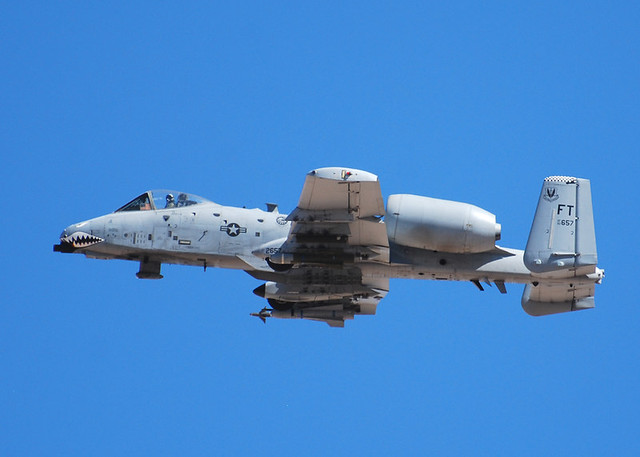 75th Fighter Squadron A-10Cs, participating in Green Flag West 11-9