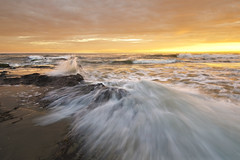 Sea, sand and waves (Marc Briggs) Tags: sea beach santabarbara sand waves pacific pacificocean ucsb orangejulius campuspoint rocksdsc5956anr