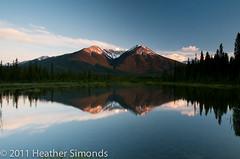 Banff National Park Sunset (Heather Simonds) Tags: park wild mountains reflection nature landscape rockies alberta banff rockymountains banffnationalpark