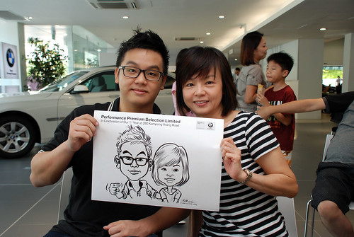 Caricature live sketching for Performance Premium Selection first year anniversary - day 2 - 11