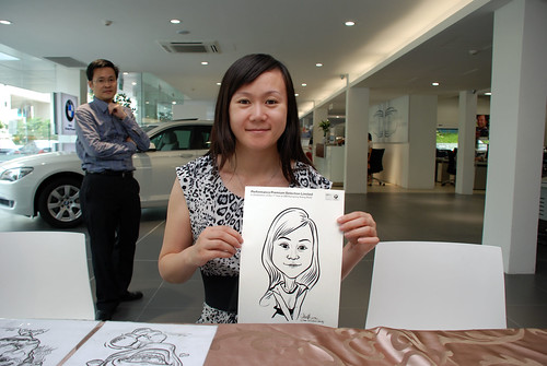 Caricature live sketching for Performance Premium Selection first year anniversary - day 2 - 23