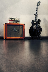 my wildest dreams. (27147 pt.II) Tags: orange guitar tube ii tiny valve terror sheraton amplifier epiphone archtop