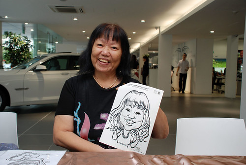 Caricature live sketching for Performance Premium Selection first year anniversary - day 2 - 25