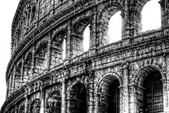 Colosseum (markinaustin) Tags: travel bw italy rome blackwhite ancient nikon ruins italia stadium colosseum hdr highdynamicrange romanempire colosseo ancientruins marklee travelphotography romanarchitecture d80 stunningphotogpin markinaustin
