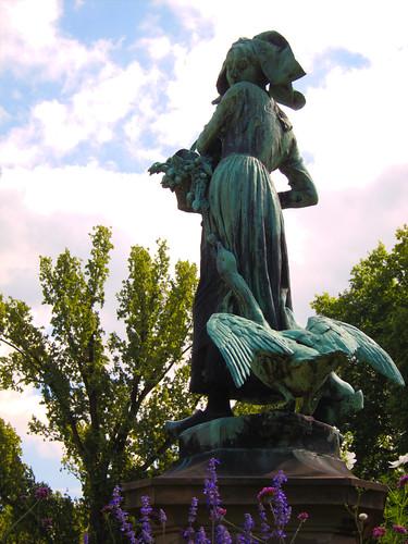 Alsace Statue Strasbourg by Danalynn C