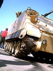 Armored Vehicle (M113) (MS4d) Tags: new truck army fight riot chaos force tank flag military guard attack january egypt police security clash demonstration 25 revolution egyptian vehicle soldiers guns behind mass emergency  anti blockade armored department troops carrier protesters forces troop iveco  personnel units mubarak  m113   damietta   sawt