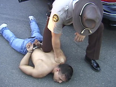 Cop Domination 5 (TBTAOTW2011) Tags: black men leather boot worship uniform shine boots domination police polish lick cop academy abuse prisoner dominant humiliation bootlick