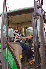 A tractor is a girls best friend (s0ulsurfing) Tags: uk england woman tractor english smiling rural canon island happy countryside britain farm farming august isleofwight blonde british agriculture isle gem wight 2011 s0ulsurfing
