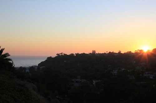 santa monica stairs at sunset - view 2