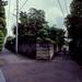 路地の三叉路
