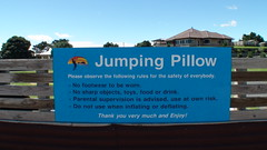 Jumping Pillow Sign