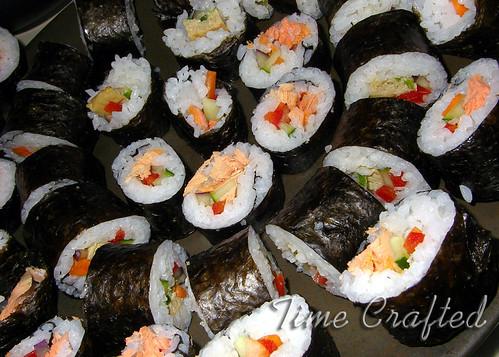 Salmon & Egg Sushi