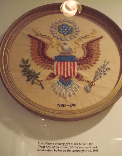 Presidential Seal Crewel to RN from JN