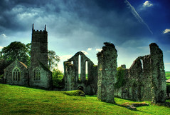 Frithelstock Priory, Great Torrington (Vicky...Lewis (www.vixgallery.com)) Tags: old uk trees light shadow england sky cloud southwest church field photoshop ruins scenery ngc ruin scene devon priory westcountry northdevon abigfave frithelstock