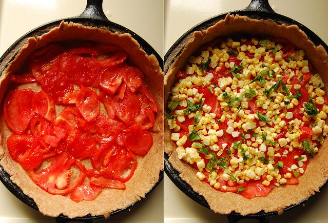 Vegan tomatoe and corn pie!