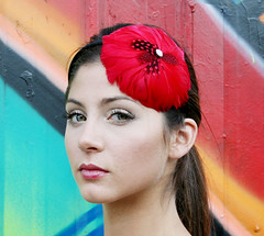 IMG_0253 (Red Ostrich) Tags: hairaccessories hairaccessory featherbarrette featherheadband