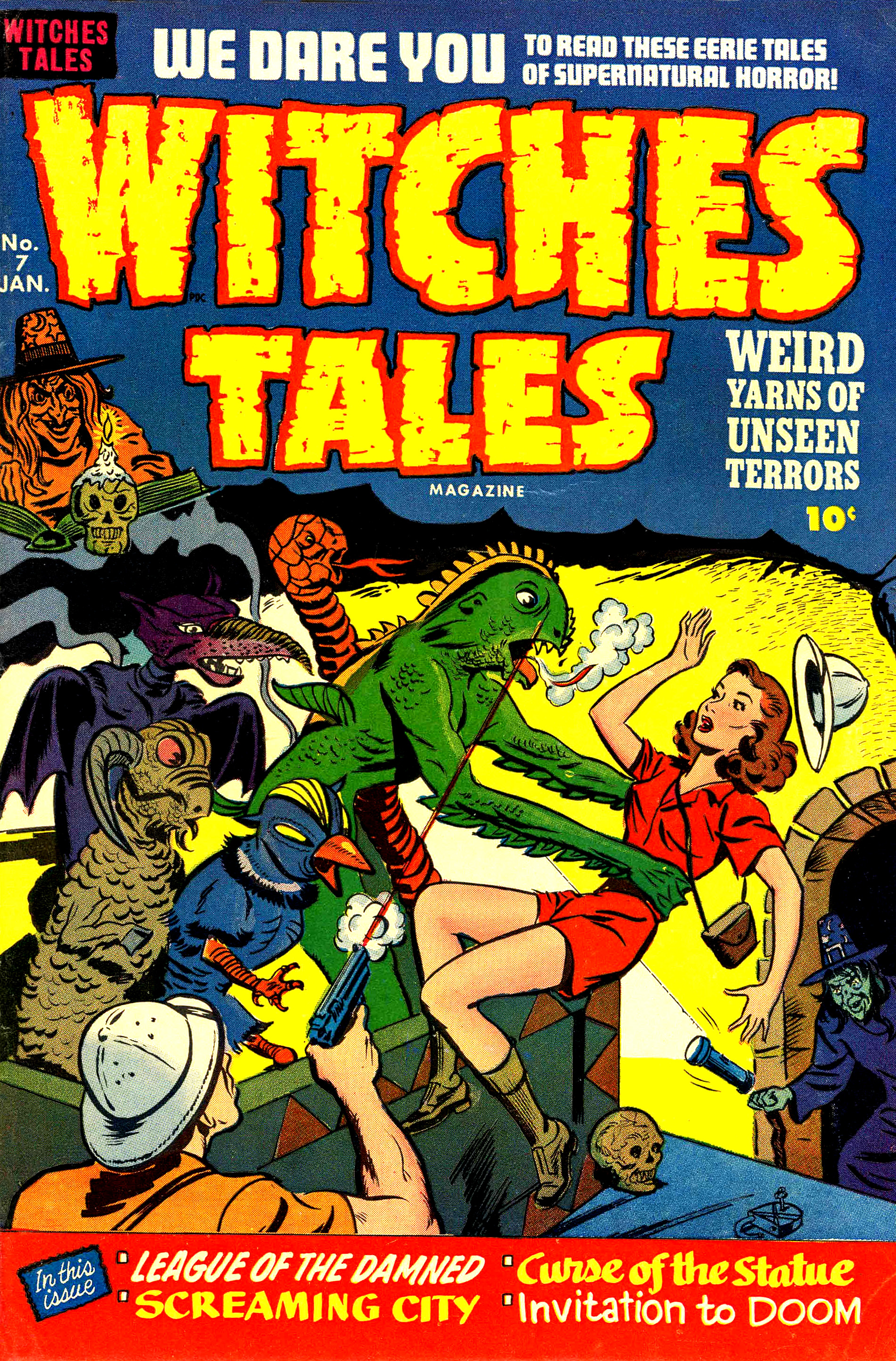 Witches Tales #7, Al Avison Cover (Harvey, 1952)