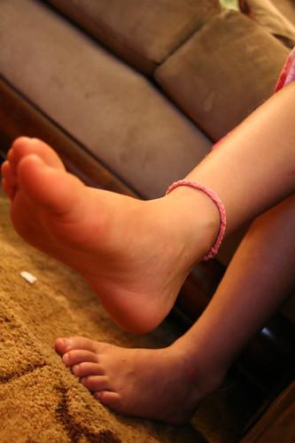 lily's ankle bracelet